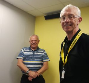 Paul Harding, Torbay Hospital Radio, and Jim Parker, Torbay Weekly.